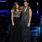 """THE VOICE -- """"Live Finale"""" Episode 519B -- Pictured: (l-r) Jacquie Lee, Tessanne Chin -- (Photo by: Tyler Golden/NBC)"""