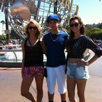 At Universal with Kyle and Morgan celebrating after Battles!