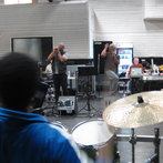 Battle rehearsal with the band