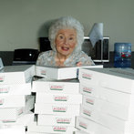 Doughnut Delivery in protest of Alice Hortons Murder