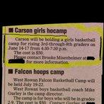 "Got a daughter? Send her to ""Carson girls hocamp!"""
