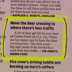 Move the deer crossing to where there's less traffic.