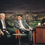 The Tonight Show with Jay Leno -- George Carlin, Jack Palance, Fred Roggin