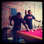 downtime playing some pool