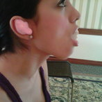 uhhh..this is awkward haha..getting fitted for in-ears for LIVE SHOWS! =)