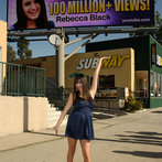 Internet Sensation Rebecca Black Unveils Digital Billboard Celebrating Her 100 Million Views On YouTube