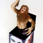 Werewolf Looking Ozzy Osbourne N The Box Doll Manufactured By Art Asylum Is On Displa