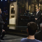 Jonah Hill hosts Saturday Night Live with musical guest Bastille on January 25, 2014.