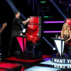 "THE VOICE -- ""Blind Auditions"" -- Pictured: (l-r) Usher, Adam Levine, Shakira -- (Photo by: Trae Patton/NBC)"