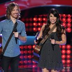 """THE VOICE -- """"Blind Auditions"""" Episode 601 -- Pictured: (l-r) Christopher Hawkes, Dawn Dropeza -- (Photo by: Tyler Golden/NBC)"""