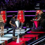 """THE VOICE -- """"Blind Auditions"""" -- Pictured: (l-r) Shakira, Usher, Blake Shelton, Adam Levine -- (Photo by: Trae Patton/NBC)"""