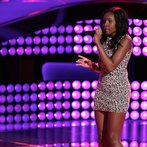 """THE VOICE -- """"Blind Auditions"""" Episode 602 -- Pictured: Deja Hall -- (Photo by: Tyler Golden/NBC)"""