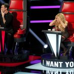 "THE VOICE -- ""Blind Auditions"" -- Pictured: (l-r) Adam Levine, Shakira -- (Photo by: Trae Patton/NBC)"