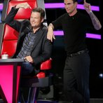 "THE VOICE -- ""Blind Auditions"" -- Pictured: (l-r) Blake Shelton, Adam Levine -- (Photo by: Trae Patton/NBC)"