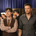 """COMMUNITY -- """"Bondage and Beta Male Sexuality"""" Episode 507 -- Pictured: (l-r) John Oliver as Dr. Ian Duncan, Joel McHale as Jeff -- (Photo by: Adam Taylor/NBC)"""