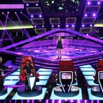 """THE VOICE -- """"Blind Auditions"""" Episode 604 -- Pictured: (l-r) Blake Shelton, Usher, Audra McLaughlin -- (Photo by: Tyler Golden/NBC)"""