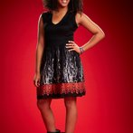"""THE VOICE -- Season: 6 -- Pictured: Ayesha Brooks as """"Musicbox"""" -- (Photo by: Paul Drinkwater/NBC)"""
