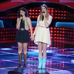 "THE VOICE -- ""Blind Auditions"" Episode 605 -- Pictured: (l-r) Alaska Holloway, Madi Metcalf -- (Photo by: Tyler Golden/NBC)"
