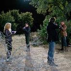 Pictured: (l-r) Elizabeth Mitchell as Rachel Matheson,  JD Pardo as Jason Neville, Billy Burke as Miles Matheson, Giancarlo Esposito as Tom Neville -- (Photo by: Felicia Graham/NBC/NBCU Photo Bank)