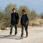 Pictured: (l-r) Billy Burke as Miles Matheson, David Lyons as Sebastian Monroe -- (Photo by: Felicia Graham/NBC/NBCU Photo Bank)