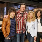 "THE VOICE -- ""Team Blake Battle Reality"" -- Pictured: (l-r) Blake Shelton, The Band Perry -- (Photo by: Trae Patton/NBC)"