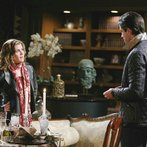 EJ is mortified when Sami suggests she knows why he was sneaking around.