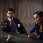 """HANNIBAL -- """"Hassun"""" Episode 203 -- Pictured: (l-r) Shawn Doyle as Leonard Brauer, Caroline Dhavernas as Alana Bloom  -- (Photo by: Brooke Palmer/NBC)"""