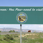 Parks and Recreation - Town Slogan - Pawnee: You Paw-need to visit us!