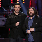 "THE VOICE -- ""Battle Rounds"" Episode 607 -- Pictured: (l-r) Carson Daly, Patrick Thomson -- (Photo by: Tyler Golden/NBC)"