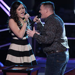 "THE VOICE -- ""Battle Rounds"" Episode 607 -- Pictured: (l-r) Lexi Luca, Jake Worthington  -- (Photo by: Tyler Golden/NBC)"