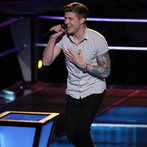 "THE VOICE -- ""Battle Rounds"" Episode 607 -- Pictured: Jake Barker  -- (Photo by: Tyler Golden/NBC)"