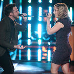 "THE VOICE -- ""Battle Rounds"" Episode 608 -- Pictured: (l-r) Jeremy Briggs, Clarissa Serna -- (Photo by: Tyler Golden/NBC)"