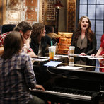 """THE VOICE -- """"Team Blake Battle Reality"""" Episode 609 -- Pictured: (l-r) Blake Shelton with Neil, Kimberly, and Reid Perry of The Band Perry, Audra McLaughlin, Madi Metcalf and Alaska Holloway -- (Photo by: Trae Patton/NBC)"""