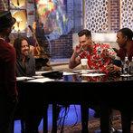 "THE VOICE -- ""Team Adam Battle Reality"" Episode 609 -- Pictured: (l-r) Josh Kaufman, Paul Mirkovich, Adam Levine, Aloe Blacc -- (Photo by: Trae Patton/NBC)"