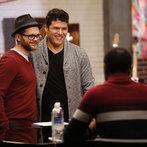 "THE VOICE -- ""Team Adam Battle Reality"" Episode 609 -- Pictured: (l-r) Josh Kaufman, Austin Ellis -- (Photo by: Trae Patton/NBC)"