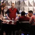 "THE VOICE -- ""Team Adam Battle Reality"" Episode 609 -- Pictured: (l-r) Dawn Dropeza and Christopher Hawkes, Josh Murley, Aloe Blacc, Paul Mirkovich, Adam Levine -- (Photo by: Trae Patton/NBC)"