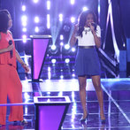 "THE VOICE -- ""Battle Rounds"" Episode 609 -- Pictured: (l-r) Musicbox / Ayesha Brooks, Deja Hall -- (Photo by: Tyler Golden/NBC)"