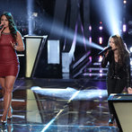 "THE VOICE -- ""Battle Rounds"" Episode 609-- Pictured: (l-r) Tess Boyer, Bria Kelly -- (Photo by: Tyler Golden/NBC)"