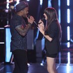 "THE VOICE -- ""Battle Rounds"" Episode 610 -- Pictured: (l-r) Joshua Howard, Christina Grimmie -- (Photo by: Tyler Golden/NBC)"