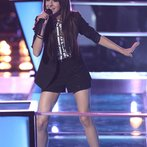 "THE VOICE -- ""Battle Rounds"" Episode 610 -- Pictured: Christina Grimmie -- (Photo by: Tyler Golden/NBC)"