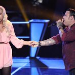 "THE VOICE -- ""Battle Rounds"" Episode 610 -- Pictured: (l-r) Cali Tucker, Ryan White Maloney -- (Photo by: Tyler Golden/NBC)"
