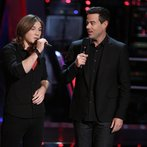 "THE VOICE -- ""Battle Round 2"" Episode 612 -- Pictured: (l-r) Morgan Wallen, Carson Daly -- (Photo by: Tyler Golden/NBC)"