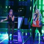"""THE VOICE -- """"Battle Round 2"""" Episode 613 -- Pictured: (l-r) Clarissa Serna, Dani Moz  -- (Photo by: Tyler Golden/NBC)"""