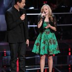 """THE VOICE -- """"Battle Round 2"""" Episode 613 -- Pictured: (l-r) Carson Daly, Madilyn Paige  -- (Photo by: Tyler Golden/NBC)"""