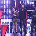 "THE VOICE -- ""Battle Round 2"" Episode 613 -- Pictured: (l-r) Kaleigh Glanton, Carson Daly, Ryan White Maloney -- (Photo by: Tyler Golden/NBC)"