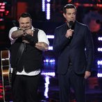 """THE VOICE -- """"Playoffs"""" Episode 614 -- Pictured: (l-r) Ryan White Maloney, Carson Daly -- (Photo by: Tyler Golden/NBC)"""