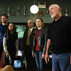 "COMMUNITY -- ""Basic Story"" -- Pictured: (l-r) Joel McHale as Jeff Winger, Alison Brie as Annie Edison, Jim Rash as Dean Pelton, Gillian Jacobs as Britta Perry, Jonathan Banks as Professor Hickey -- (Photo by: Vivian Zink/NBC)"