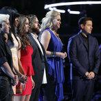 "THE VOICE -- ""Playoffs"" -- Pictured: (l-r) Kristen Merlin, Deja Hall, Tess Boyer, Patrick Thomson, Dani Moz, Carson Daly  -- (Photo by: Trae Patton/NBC)"
