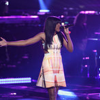 "THE VOICE -- ""Playoffs"" -- Pictured:  Deja Hall -- (Photo by: Tyler Golden/NBC)"