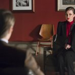 "HANNIBAL -- ""Su-zakana"" Episode 208 -- Pictured: (l-r)  Mads Mikkelsen as Hannibal Lecter, Katharine Isabelle as Margot Verger -- (Photo by: Brooke Palmer/NBC)"